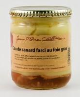 Cou de canard farci au foie gras, bocal 350g