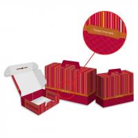 Valisette carton décor voyage gourmand