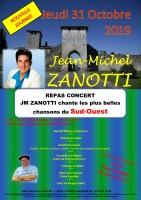 Jean Michel Zanotti chante les plus belles chansons du Sud Ouest